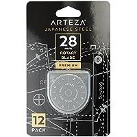 Arteza Rollschneider-Klingen — 28 mm Ersatzklingen für Rollmesser — 12 Stoffschneider-Klingen für Olfa & Fiskars — Hochwertiger SKS-7 Wolfram-Stahl