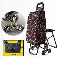 Carros para presas 2018 mejora de carrito de la compra plegable escalera bicicleta de montaña con silenciosos comestibles de tres ruedas práctico carrito con rodamiento de rueda con asiento plegable