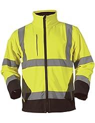 Blackrock Chaqueta de tejido suave en dos tonos de alta visibilidad, amarillo y azul marino.