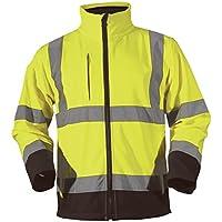 Blackrock - Giacca Soft Shell ad alta visibilità, colore giallo/navy,