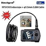 Blueskysea NTS150 5.5mm Endoscope Numérique Rechargeable Caméra Inspection Portable Appareil-photo Industriel 3.5M avec 3.5 pouces écran LCD Couleur