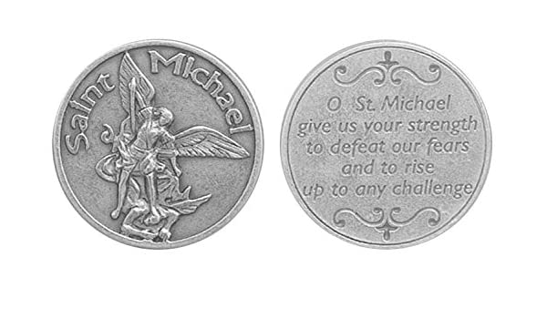 /À conserver dans la poche le portefeuille ou le sac /à main Archange Saint Michel. St.Josephs Catholic Giftshop on  M/édaille de poche Saint Michel M/édaille de pri/ère M/édaille de pri/ère