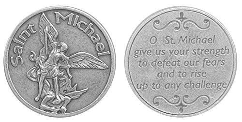 Saint Michael Pocket Token. Prayer Token. Prayer Coin. Perfect for your pocket, wallet or purse. St Michael the Archangel.