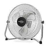 Orbegozo PW 1230 - Ventilador industrial Power Fan con inclinación regulable, aspas metálicas de 30 cm, 3 velocidades de ventilación, asa de transporte, rejilla de seguridad, 45 W de potencia