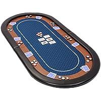 Riverboat Gaming Champion faltbare Pokerauflage mit wasserabweisenden Stoff und Tasche - Blau Pokertisch 180cm