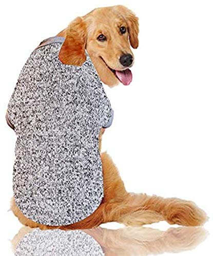 Cappotto per Cani Cani Gatti Abbigliamento Abbigliamento Vestiti in Cotone per Cani di Piccola Taglia di Zellar per Cani di Taglia Media@Grigio_XXX-Large