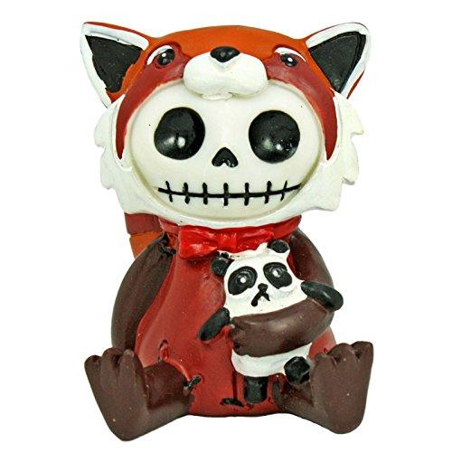 YTC Summit International Furrybones Reddington Skeleton Dressed in Red Panda Costume Halloween Figurine (Red Panda Skeleton)