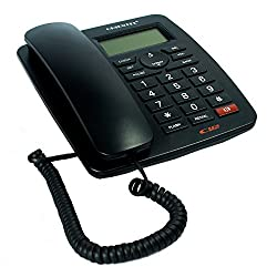 Shopos Orientel KX-T1577CID Landline Caller Id Corded Phone Telephone For Office and Home Purpose Caller ID DTMF/FSK Auto Detect
