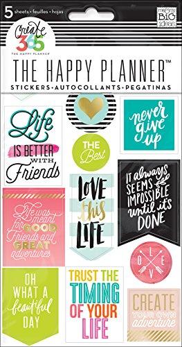 Me and my big Ideas schaffen 365Planer Aufkleber 5Blatt/pkg-life Zitate, andere, mehrfarbig