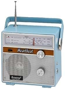 Steepletone Heartbeat 1960s Retro Style Portable Radio - Blue