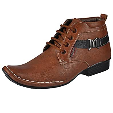 Marco Ferro Men 1422 Tan Synthetic Boots 6 UK