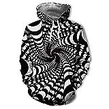 Kanpola Kapuzenpullover Herren Damen 3D Druck Hoodie Sweatshirt Sweat Sweatjacke Printed Pullover mit Kapuze,003