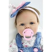 NPK 22inch renacer de la muñeca de silicona suave Simulación de vinilo de 45 cm magnética Boca realista juguete lindo de la Reborn Baby Doll