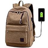 Feicuan Reise Laptop Rucksack Nylon Wasserdicht mit USB-Ladeanschluss Taschen für College-Business-Arbeit