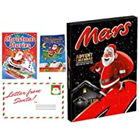 Mars Advent Calendar 111g Gift Set with a Letter from Santa, Christmas Stories and Children