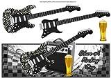 Guitare rock et bière Carte sur le haut Grand par Michelle Johnson