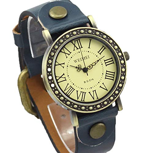 Ho Clock Vintage Belt Watch Persönlichkeit Römische Skala Student Watch,Chrome -