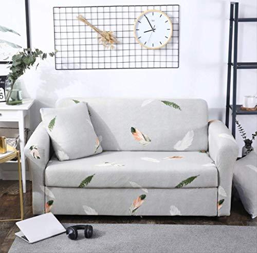 Dyb&home fodera per divano copridivano elasticizzato 1/2/3/4 posti, lavabile in lavatrice, rivestimento in tessuto colorato in poliestere jacquard con piume colorate