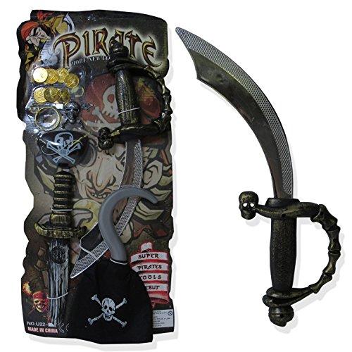 Captain Jack Pirat Waffe Set Schwert Dolch Haken Fancy Kleid Zubehör