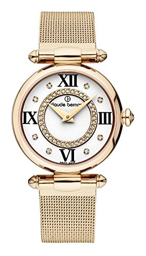 Claude Bernard Women's 20500 37R APR1 Dress Code Analog Display Swiss Quartz Rose Gold Watch