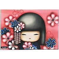 Preisvergleich für Schreibtischunterlage Kimmidoll Puppe - 50 cm * 36 cm - PVC Unterlage / Knetunterlage / Schreibunterlage / Tischunterlage - für Mädchen Damen Japan Hibiskus Blumen Blüten