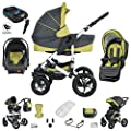 Friedrich Hugo Hamburg | 4 in 1 Kombi Kinderwagen + ISOFIX