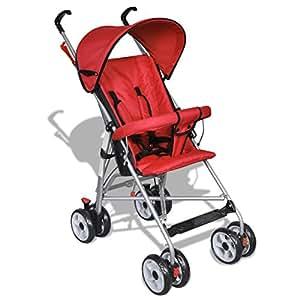 vidaXL Poussette pour bébé rouge