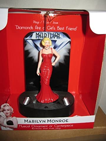 5 Marilyn Monroe Illuminated Musical Ornament or Centerpiece Plays, Diamonds are a Girl's Best Friend by Dyna Seasonal
