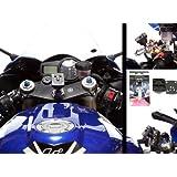 15-17 mm pour moto Centre fourche tige de fixation avec système d'attache plaque &Ultimate Addons Adaptateur 3 pinces