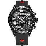 Wristwatch for men Curren distinctive sporty design black color