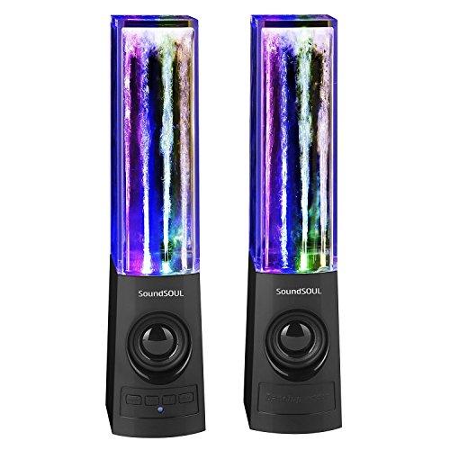 SoundSOUL Enceinte Bluetooth à jet d'eau, Haut Parleur Sans Fil de fontaine, Enceinte gadget idéal pour la soirée, Wireless Water Speaker pour l'Ordinateur,iPhone,MAC, lecteur MP3/4 (Noir)
