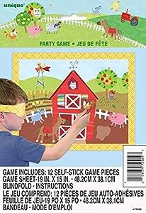Unique Party 72469 - Juego de 12 juegos de fiesta para granja