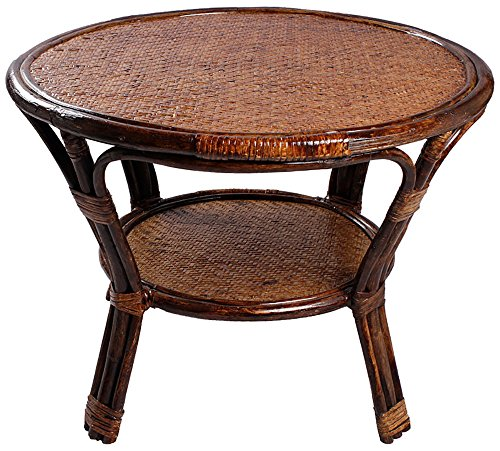 Novelty Cane Art CET10M24R Table (Glossy Finish, Brown)
