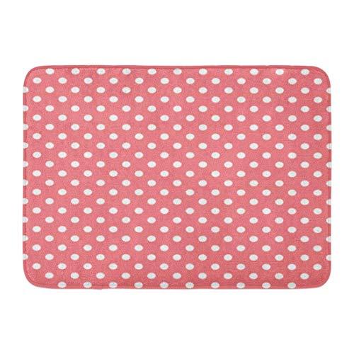 Pink Polka Sleeve (Icndpshorts Custom Doormats Coral Pink Polka Dots Sleeve Home Door Mats 15.7