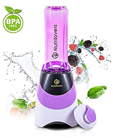 NUTRILOVERS Blender / Mixeur à Smoothie et Milkshake - Machine