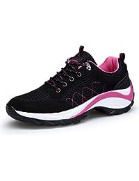 DAFENP Zapatillas Deportivas de Mujer Running Trail Gym Sneakers Comodos Zapatos Tacón