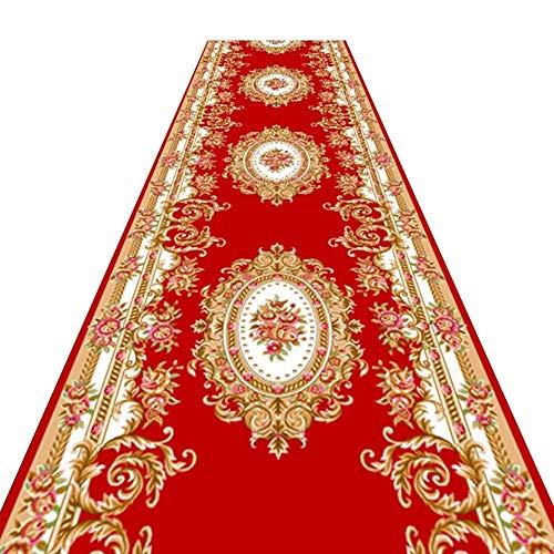 4x6 Bereich Teppich Matte (YXNN Roter Teppich - European Print Hochzeit Teppich Läufer Familie Treppe Anti-Rutsch-Matte Hotel Tagungsraum Gang Korridor Anpassbar (W0.6/0.8 / 1m) (Farbe : A, größe : 0.6x2m))