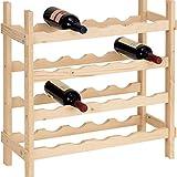 fumer Cantinetta Portabottiglie 20 Bottiglie di Vino in Legno Abete Grezzo 60x25x65cm