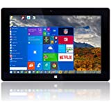 "10"" Windows 10 Fusion5® Ultra Slim Windows Tablet PC - 2GB RAM - 32GB Storage -Full USB Port - Touch Screen - Intel Baytrail-T CR (Quad-core) Z3735F (G) - Dual Camera - Bluetooth Tablet PC (10"" IPS Windows 10 2G 32G)"