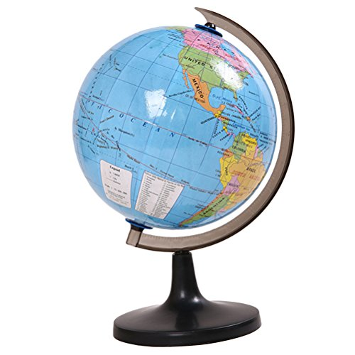 TOYMYTOY Globo del mundo de 7.2 pulgadas con el juguete giratorio educativo del aprendizaje del globo de escritorio del soporte