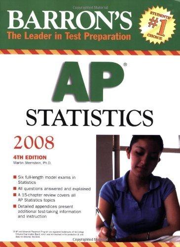 Barron's AP Statistics by Martin Sternstein Ph.D. (2007-09-01)