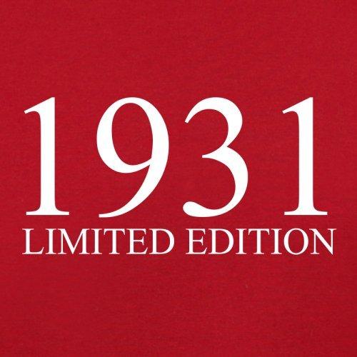 1931 Limierte Auflage / Limited Edition - 86. Geburtstag - Herren T-Shirt - 13 Farben Rot
