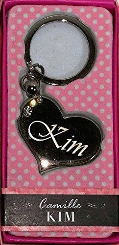 Sterling Effectz Schlüsselanhänger, Herzform, aus Metall, mit Schlüsselring, verziert mit Swarovski-Kristallen, Gravur mit Name