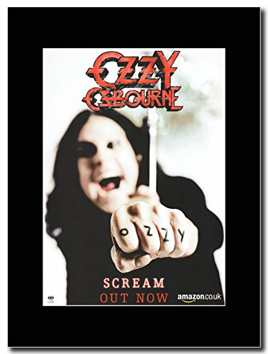 Ozzy Osbourne - Scream, ora out Magazine promo su una montatura nero