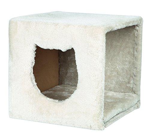 Trixie 44090 Kuschelhöhle für Regal, 37T × 33B × 33H cm, lichtgrau