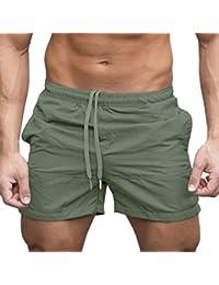 Longra☾☾ 2018 Sport Gym Casual Sports Jogging Pantalones Cortos de Cintura Elástica con Cintura para Hombres (XXL, Ejercito Verde)