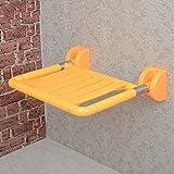 LI JING SHOP - Wand-Bad-Hocker Edelstahl-Falte Bad-Stuhl mit Barriere-freie Alten Mann Sicherheit Nehmen Sie ein Bad Duschhocker ( Farbe : Gelb )