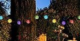 10 LED Solar Lampion Partylichterkette 3,95 m Bunt Innen und Außen Lichterkette