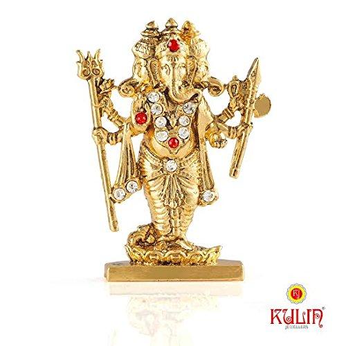 Kulin God Ganesh   Ganpati   Lord Ganesha Trimurti Idol For Car Dashboard   Home Decor   Gifting Showpiece - 5 X 4 cm  available at amazon for Rs.175