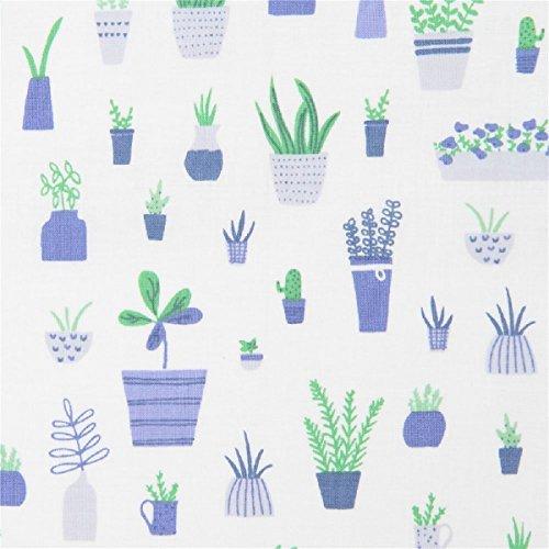 Weißer Stoff mit Topfpflanzen von Dear Stella